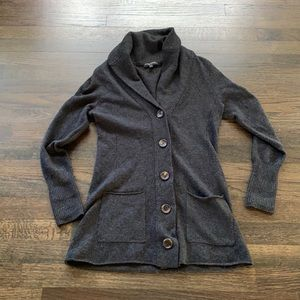 Eileen Fisher Cashmere Blend Cardigan Gray SP